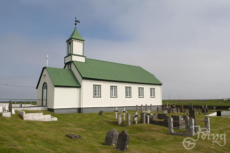 Kirche auf Reykjanes. Und welch' Wunder: Das Licht kommt!