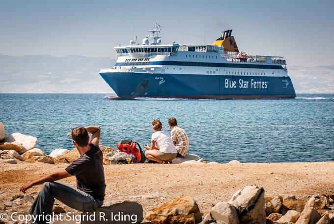 Die ehemalige Steinmole am Hafen von Naxos ist nicht mehr da.