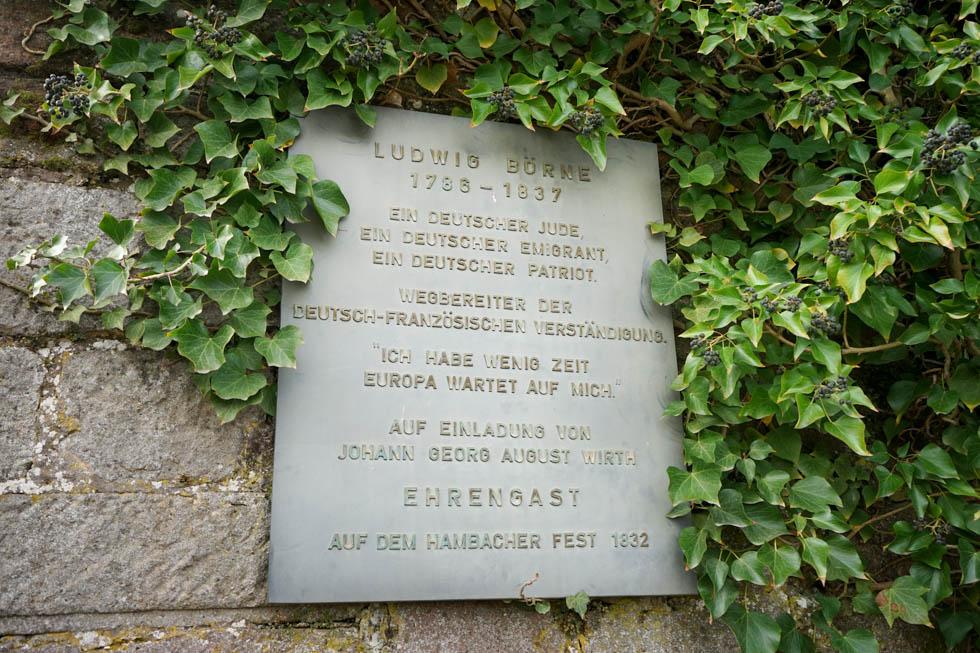 Hambacher Schloss Tafel Börne