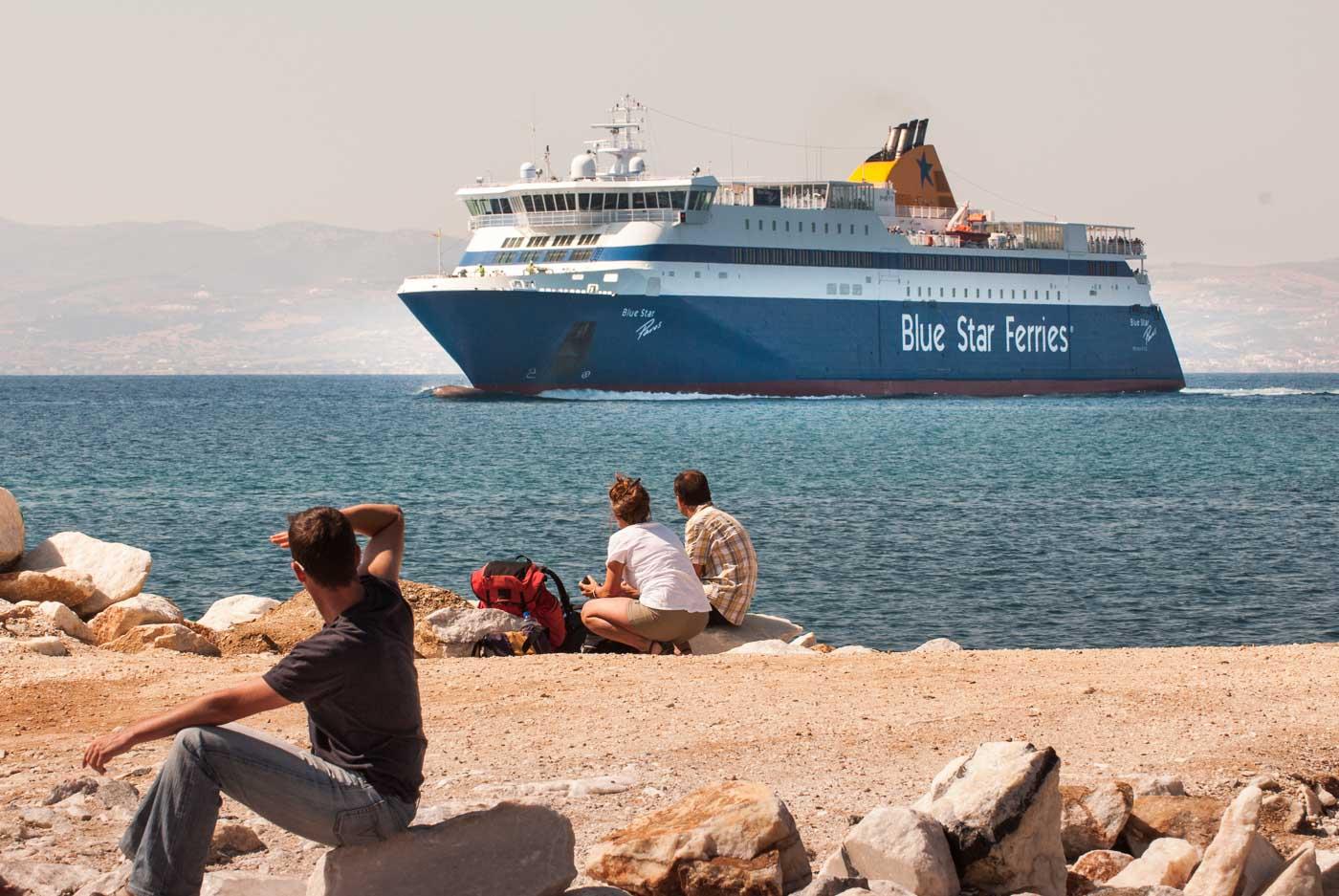 Ankunft der Blue Star auf Naxos