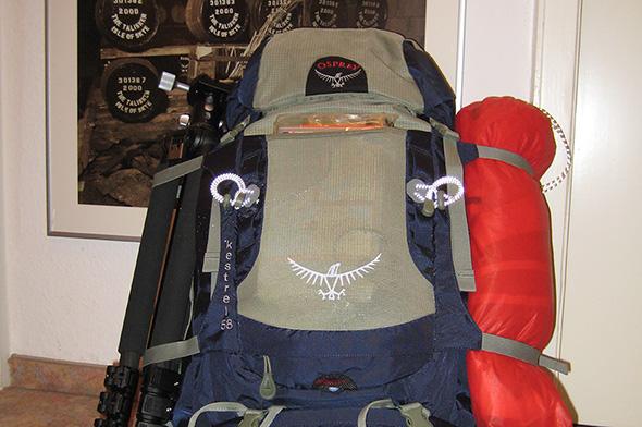 Rucksack gepackt