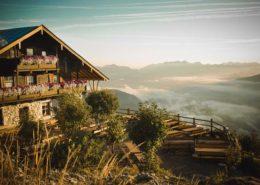 Das Kufsteiner Haus auf dem Pendling zur Morgenstunde
