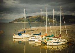 Boote in Weir Porlock