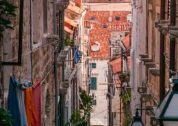 Gasse in Altstadt von Dubrovnik