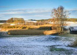 Schöner Wintermorgen am Egglburger See in Ebersberg