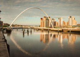 Gateshead Millennium Bridge with Baltic Centre