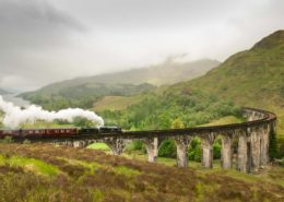 Jacobite Steam Train in the Highlands Scotland