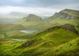 Quiraing-Berge auf der Isle of Skye Schottland
