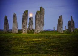 Callanish Stones Lewis Schottland bei Vollmond