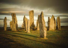 Callanish Stones auf Lewis bei Sonnenaufgang