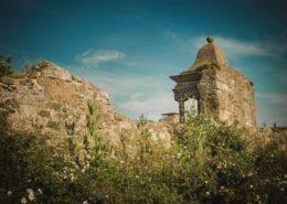 Mauer von Kloster Lindisfarne