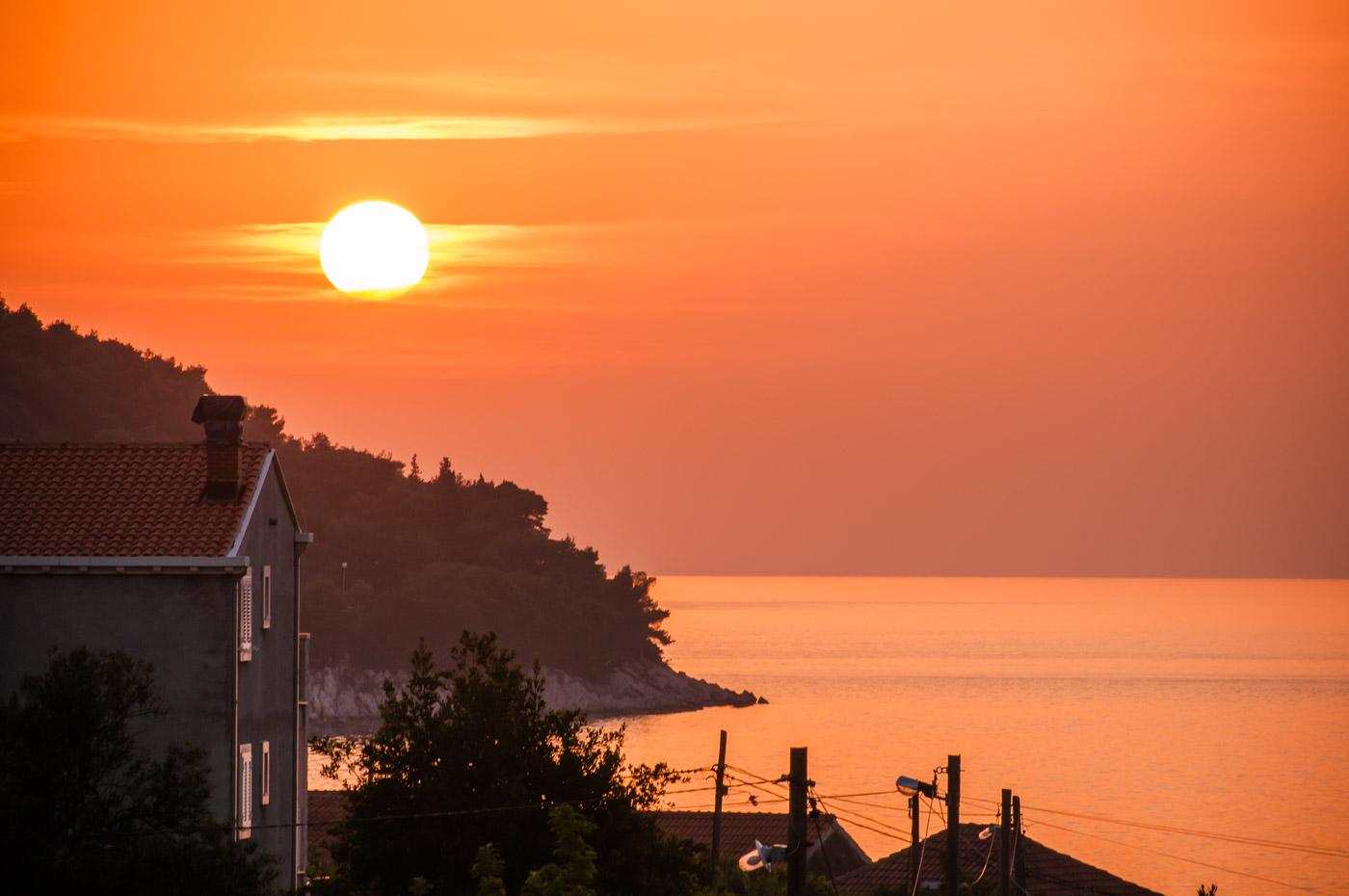 Sonnenuntergang auf Insel Lopud