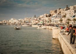 Schnur-Angler in der Chora von Naxos