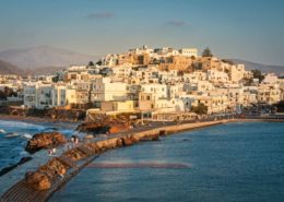 Naxos Chora im Abendlicht