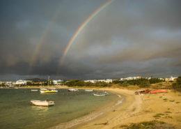 Regenbogen über Agia Anna auf Naxos