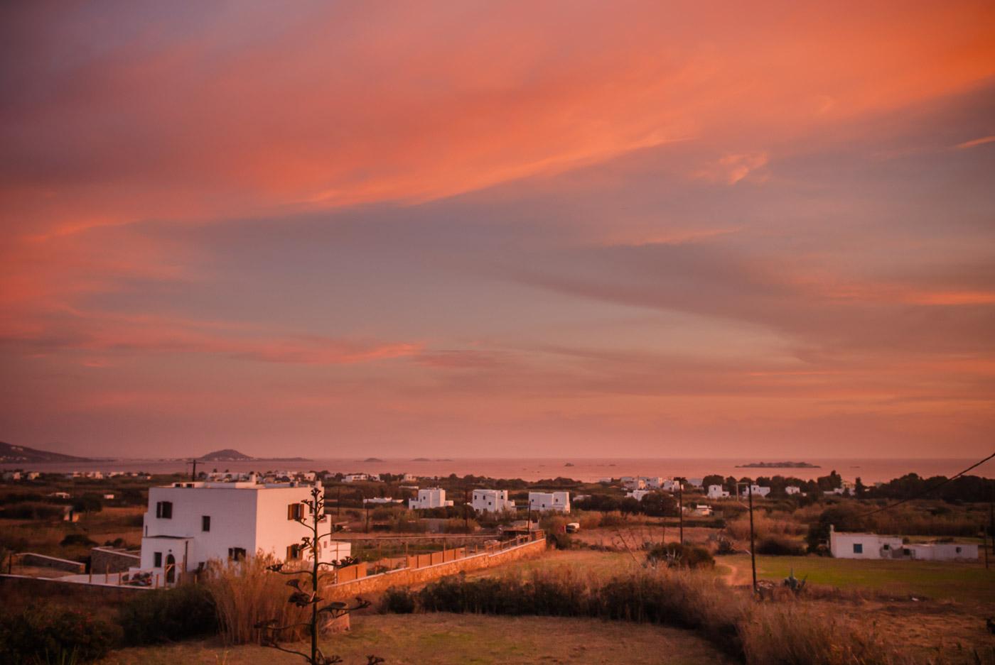 Sonnenaufgang an der Plaka auf Naxos