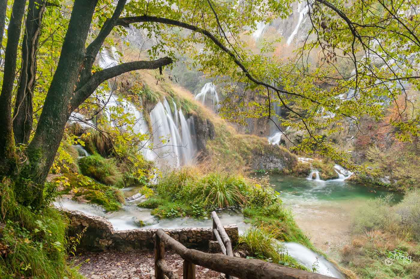 Plitvice National Park Wasserfall