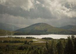 Regentag am Loch Rannoch Scotland