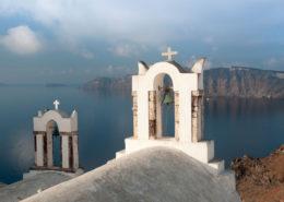 Kirche am Calderarand Oia Santorin